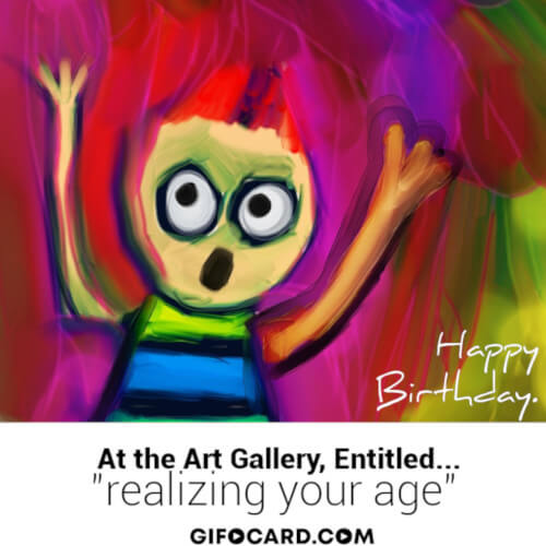 Happy Birthday gif art animation