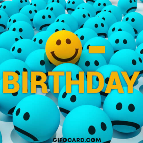 Happy Birthday gif art – free download, tap to send ecard