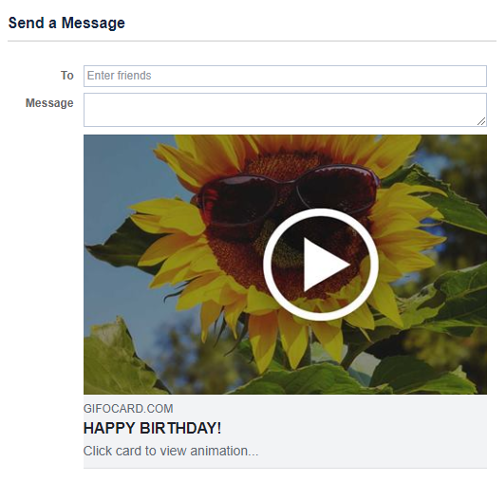 Send Happy Birthday Gif On Facebook Messenger As Link Or Download