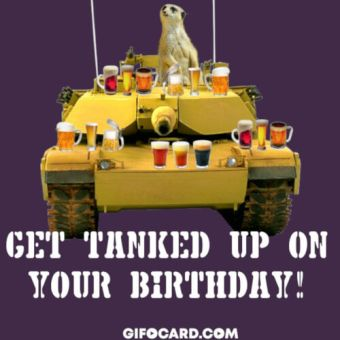 Funny Birthday card image for him