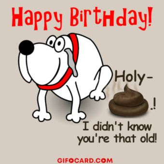 Funny cartoon Birthday card image