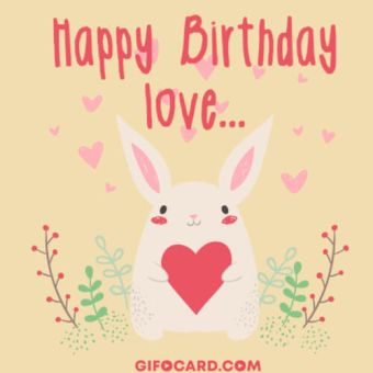 Romantic Birthday card image