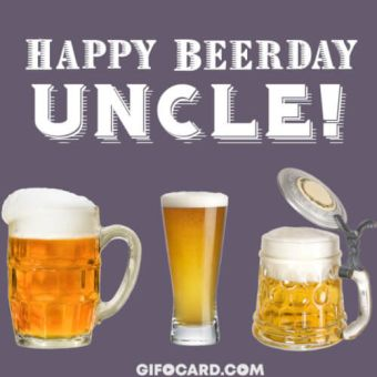 Uncle Birthday card image