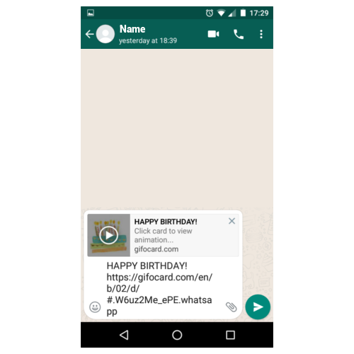Send Happy Birthday Gif On Whatsapp As Link Or Download And Attach